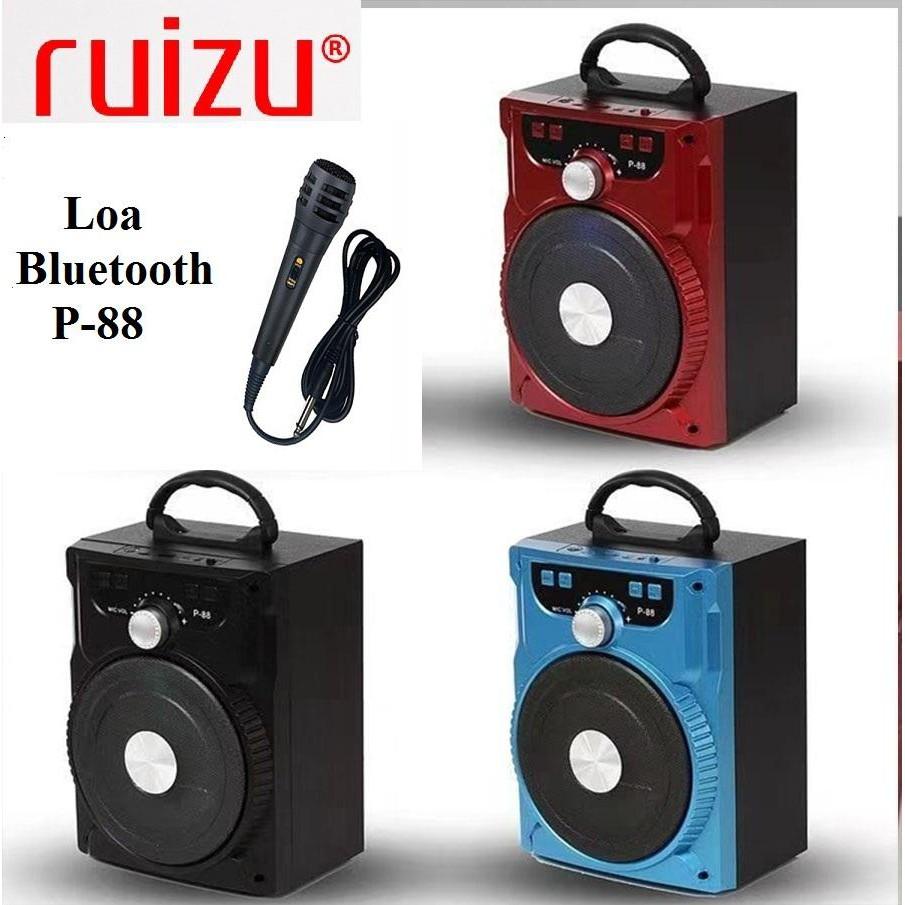 Loa Ruizu P-88 - Tích hợp Bluetooth-FM-USB-Thẻ nhớ